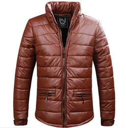 Wholesale New Korean Down Jacket - Wholesale-winter new male cotton-padded clothes PU Leather clothing thicken down coat man korean cotton-padded jacket coat