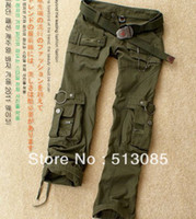 Wholesale Army Fatigue Pants Women - Wholesale-2014 Newest Cotton Army Green Battle Fatigues Sports Pants For Woman, Plus Size Cargo Pants trousers For Men, Size S-3XL