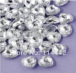 Wholesale Hearts Confetti - Wholesale-Free Shipping ! 1000 pcs   lot 12mm Acrylic Silver Heart Shape Wedding   Valentines Table Diamond confetti
