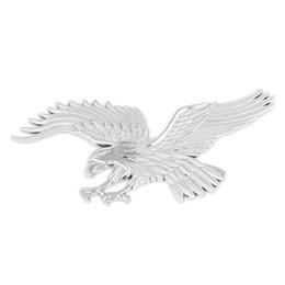 Wholesale Decal Eagle - Plastic Eagle Style Vehicle Van Auto Car Emblem Badge Sticker Decal Silver Tone