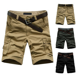 Wholesale Army Cargos - Wholesale-2014 Hot Sale Summer Men's Army Cargo Work Casual Bermuda Shorts Men Fashion Sports Overall Squad Match Trousers Plus size