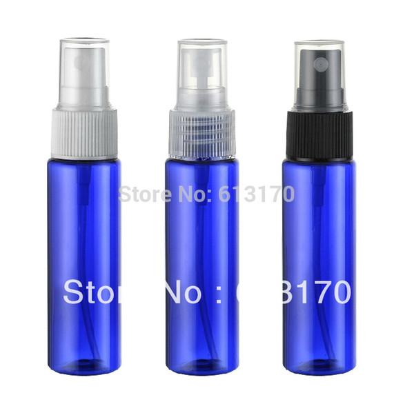 Spedizione gratuita 30ml blu bottiglia spray bottiglia profumo ugello tre colori contenitore di imballaggio cosmetico 50 pz / lotto