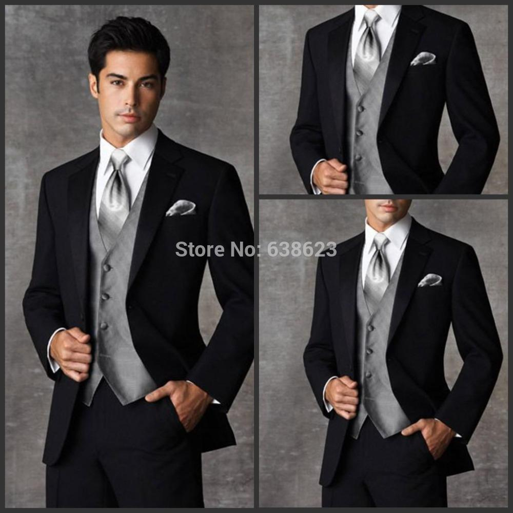 Ams2093 Custom Made New Suit Two Buttons Wool Wedding Suits Groom ...