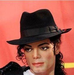 Al por mayor-Fedoras moda femenina primavera y verano Jazz Hat sombrero masculino Sombreros Sun-shading para hombres y mujeres con estilo Michael Jackson en venta