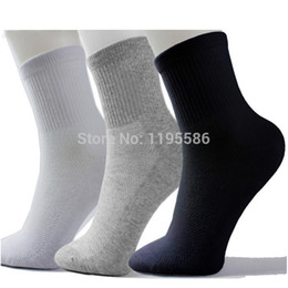 Wholesale Wholesale Long White Socks - Wholesale-High Quality Men Athletic Socks Sport Basketball Long Cotton Socks Male Spring Summer Running Cool Soild Mesh Socks For All Size