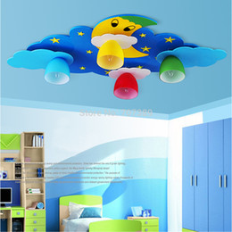 Wholesale Star Ceiling Night Light - Kid children's bedroom living room playground kindergarten night sky(moon+stars+clouds)designing MDF led ceiling light