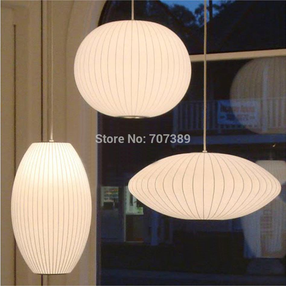 Japanese Tatami StyleF L O S Bubble Saucer Lantern Artificial Silk Pendant Light By George Nelson1M Cord E273 Lamp