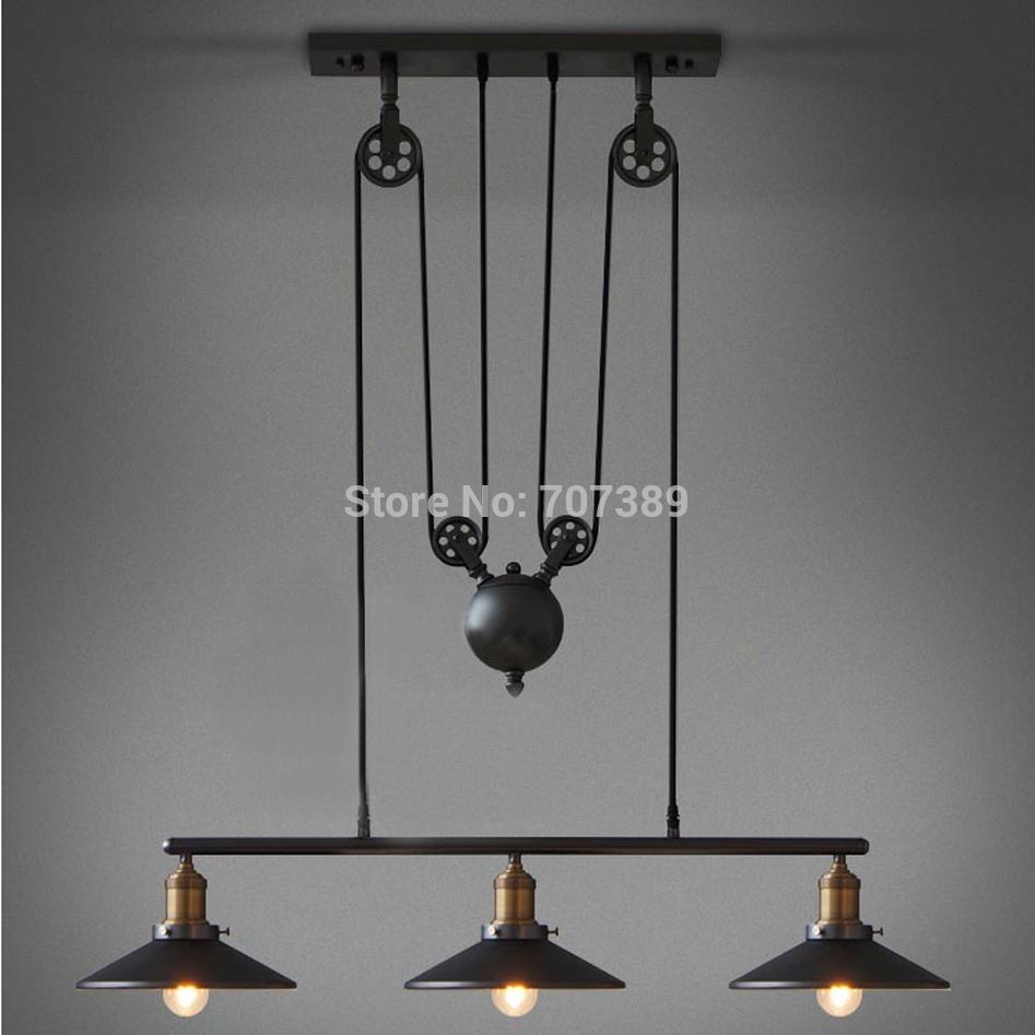 Nodiac Ikea Rh Loft Vintage Pulley Pendant Lamp Light