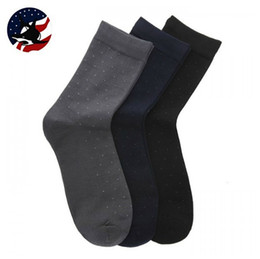 Robes De Gros En Gros Pas Cher-Haute Qualité Dress Socks / 10 Pecs A Lot noir en gros-On Sale Hommes / gris / foncé Chaussettes coton / Livraison gratuite Breathabe bambou Chaussettes