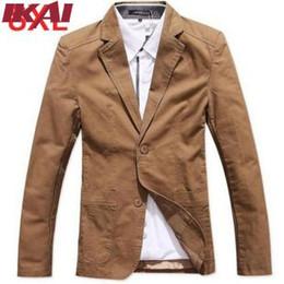 Wholesale Western Coats Plus Size - Wholesale-PBS015-2 New Arrival !Free Shipping Men's Blazers Fashion Slim Western Suit Jacket Coat Plus Size 8xl Black;Khaki Suit