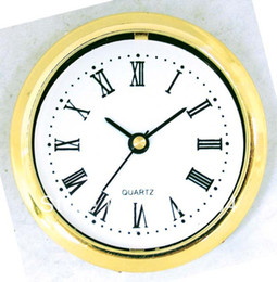 Wholesale Wholesale Clock Inserts - Wholesale-Insert clock clock head 60mm(04A) clock parts gold border Roma number for carft clock 5pcs lot Free shipping