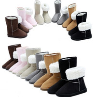 Wholesale Light Beige Boots For Women - Wholesale-2013 HOT ! Fashion Winter Women snow boot for Ladies' boot & black,beige,pink,brown,light brown,gray
