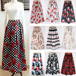 Discount Floral Print Casual Long Skirt | 2017 Floral Print Casual ...