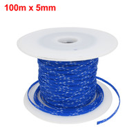 Wholesale 100m x mm Blue White Expandable Braided PET Sleeving Cable Weave for Car Audio