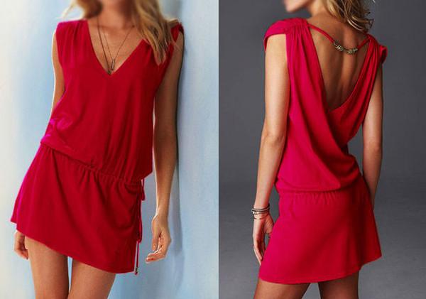 b8ffbe22562 Wholesale-Womens Lady Short Swimwear Bikini Cover Up Summer Beach Dress  Shirt Wear