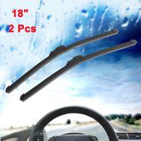 Wholesale Wiper Blade Pair - Pair 18 Inch Long Rubber Bracketless Windscreen Wiper Blade for Car Vehicle