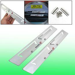 Wholesale Wiper Blade Pair - Pair Auto Car Silver Tone Metal Windscreen Wiper Aid Mate Flap