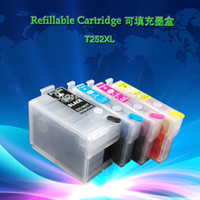 Wholesale Epson Refillable Ink - 252XL 252 Chipped Refillable ink cartridge with dye ink,hot sale printer cartridges in North America