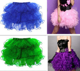 Wholesale Green Skirts For Women - Wholesale-3771 sexy tutu skirts women ruffles corset skirt pink blue green purple black white for U pick new free shipping
