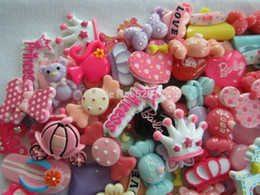 Wholesale Flatback Mixed Bow - Wholesale-Free Shipping! Min. order is $10 (mix order), Kawaii Sets, Resin Flatback Cabochon for Hair Bow Center, DIY