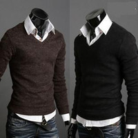 Wholesale- 2015 Free shipping new  winter men' s v- neck ca...