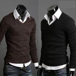 Оптовая продажа-2015 Бесплатная доставка новая зима мужская v-образным вырезом кашемировый свитер мужская с длинным рукавом джемперы кардиган мужчины размер M L XL XXL от