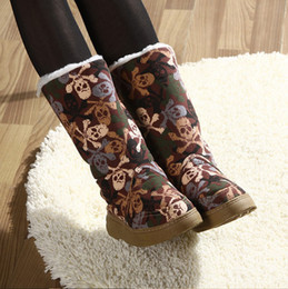 Wholesale Waterproof Wedge Winter Boots Women - Wholesale-Fashion warm Waterproof canvas autumn women platform ankle boots women snow boot winter shoes botas femininas 2015