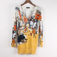 iplik hırka toptan satış-Toptan-Sıcak Yeni 2015 casual kadın uzun kazak güzellik baskı marka cardigans iplik örme bahar sıcak en ucuz bluzlar triko üstleri