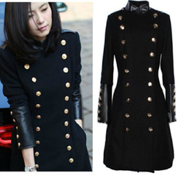 Women's Double Breasted Military Coat Online   Women's Double ...