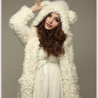 Wholesale Teddy Coat Women - 2015 Autumn Winter Women New Korean Teddy Bear Plush Rabbit Ears Winter Coat Winter Sweater Influx Of Students TDX2