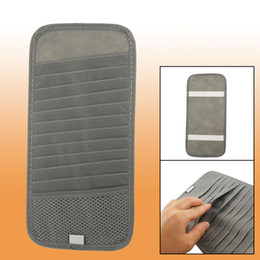 Wholesale 12 Dvd Case Holder - Gray Sun Visor CD DVD Holder Case 12 Compartments for Car Auto