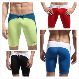 surf compression shorts UK - Wholesale-Super Soft Compression Gear Base Layer Men's Tight Sport Short Skinny Drawstring Board Surf Training GYM Shorts Men Swimwear