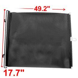 Wholesale Printed Window Shades - Car Black Retractable Window Dot Printed Sun Shield Guard Protector 125x45cm