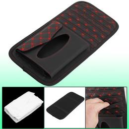 Wholesale Dvd Car Holder Bag - Black Car Visor CD DVD Disk Card Case Bag 6 Disks Holder w Napkin Case