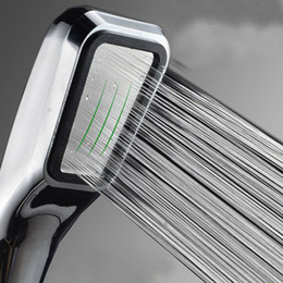Wholesale water saving head - Wholesale-Bathroom Supercharged a super handheld rain shower head supercharger 300% water save 30% Free shipping