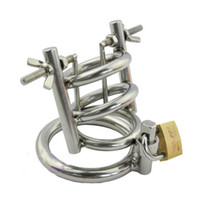 Wholesale Chasity Catheter - Stainless steel metal urethral chastity cage CB600 metal male chasity lock device torture urethral catheter urethral play