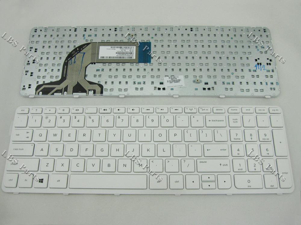 GENUINE HP Pavilion 15-e000 15-n000 White US keyboard 726104-001 720597-001 NEW