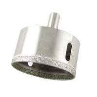 Silver Tone Glass Diamond Tipped Drill Hole Saw 50mm