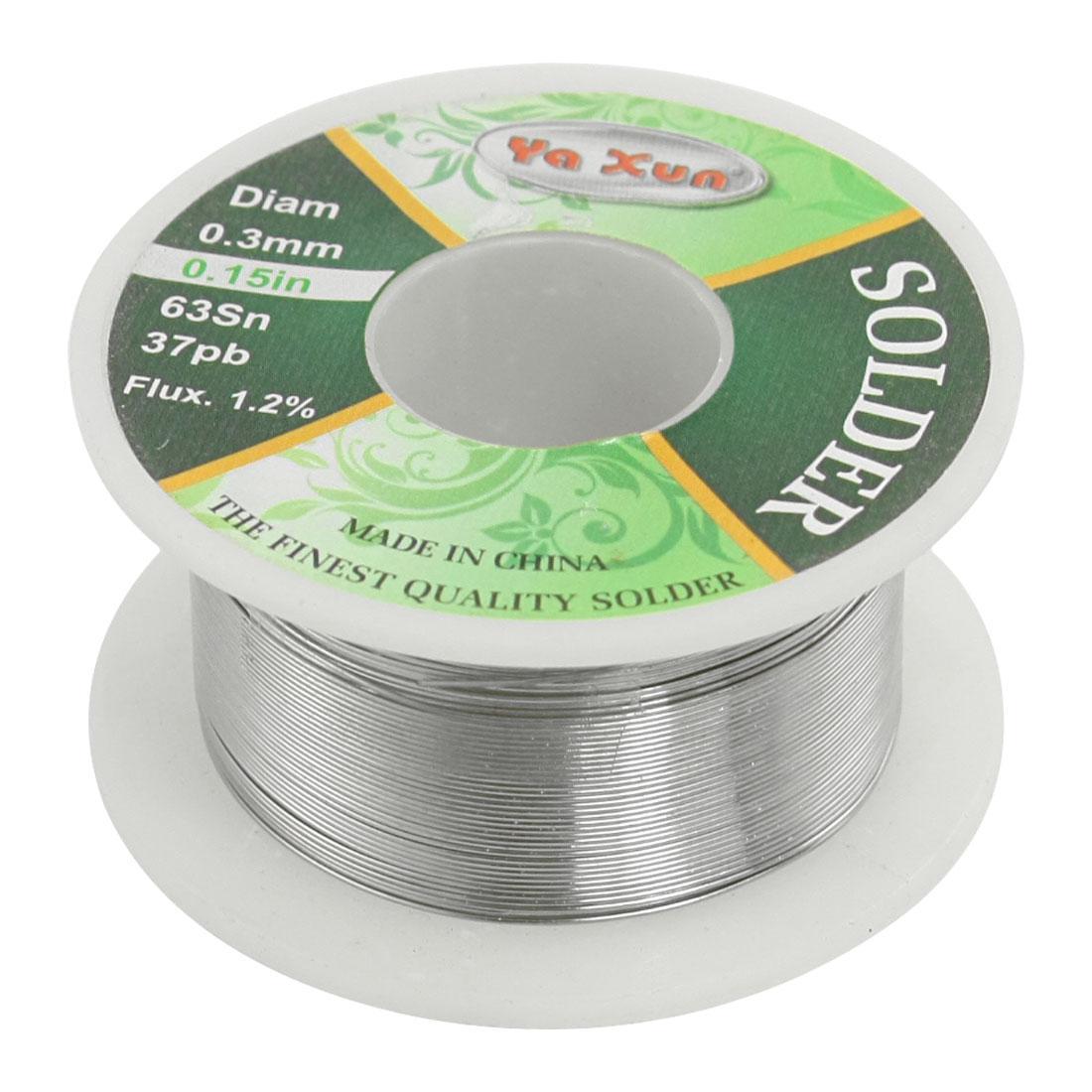 Solid Solder 0.3mm Flux Core 63/% Tin 37/% Lead Long Wire Reel Welding ^^