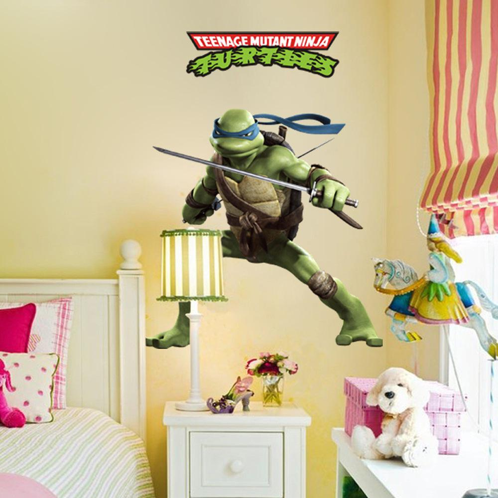 Teenage Mutant Ninja Turtles Cartoon Wall Decor Decal, Removable ...