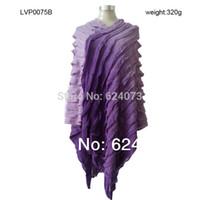 tricots de mode gratuits achat en gros de-Gros-Livraison gratuite Automne Hiver Vêtements Gland Tye Dye Poncho Manteau Chandails Pour Femmes Mode Pulls Tricots