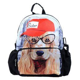 "Wholesale Top Selling School Backpacks - Wholesale-12"" Children Backpack bags, cute kids School bags, top selling mochila, dog printed cute backpacks, new, Free Shipping"