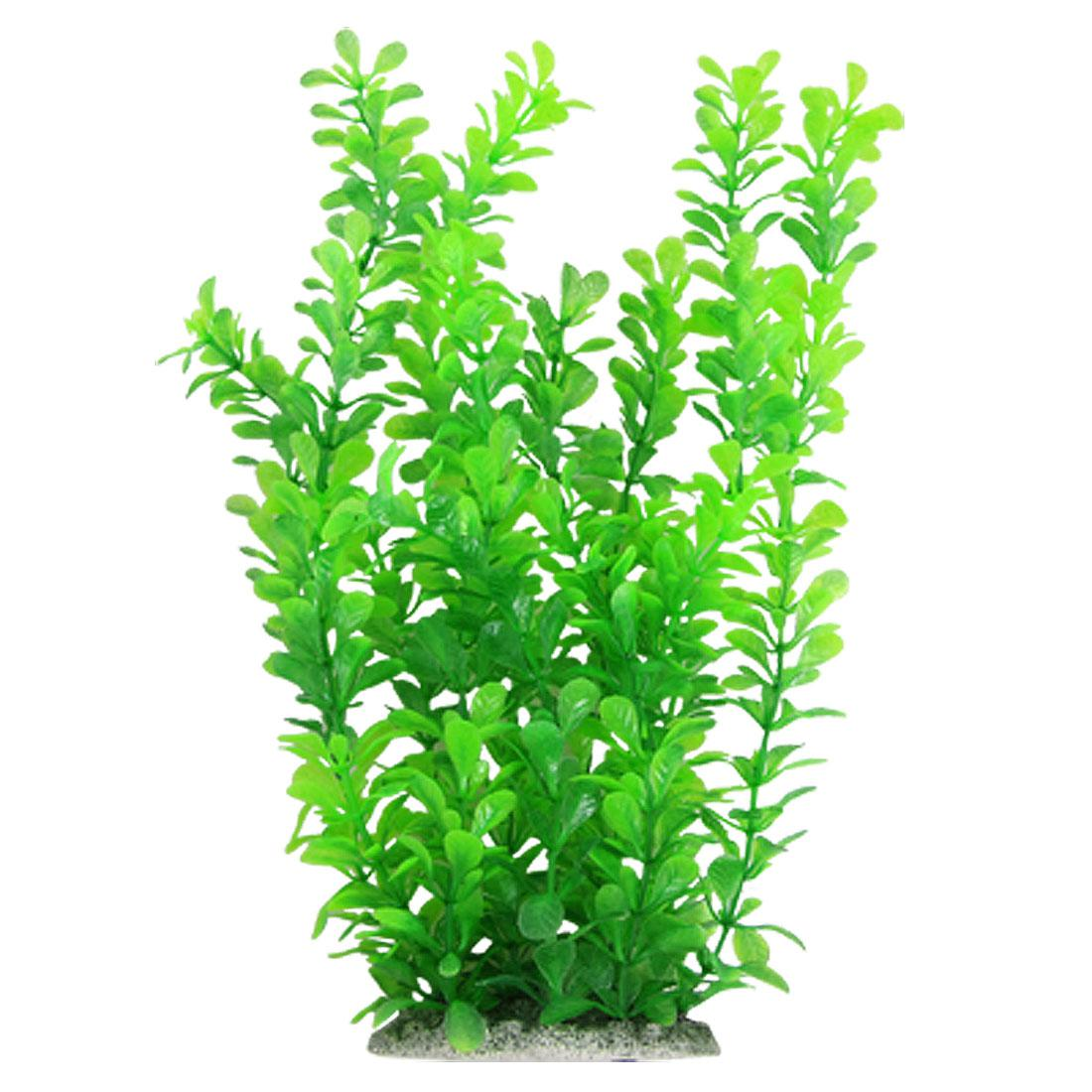 Online cheap 12 inch green water plastic plant decoration for Cheap pond plants
