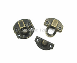 Wholesale 28mm Ships - Wholesale-Free Shipping-50 Sets Bronze Tone Jewelry Wooden Case Boxes Making Lock Latch Hardware 28mm x 27mm 27mm x 13mm,D2153