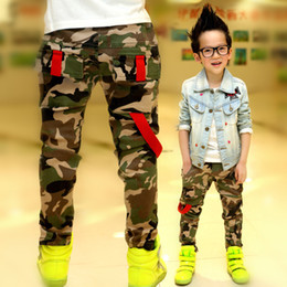 Wholesale Boys Elastic Waist Jeans - Wholesale-Retail New 2015 Autumn Jeans For Boy Camouflage Baby Boys Jeans Designer Kids Jean Children's Elastic Waist Denim Long