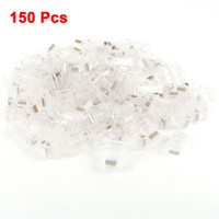 150 Pcs RJ45 8P8C 8P Cable de red CAT5E Cat6 Conector Conector de Crimpado Clear