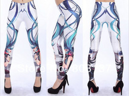 Wholesale Leggings Pirate - Wholesale-New 2015 Women Anime Characters Leggings Design Fashion Digital Print Pirate Costume Girl Sexy Pants Drop Ship Hot Sale S117-415