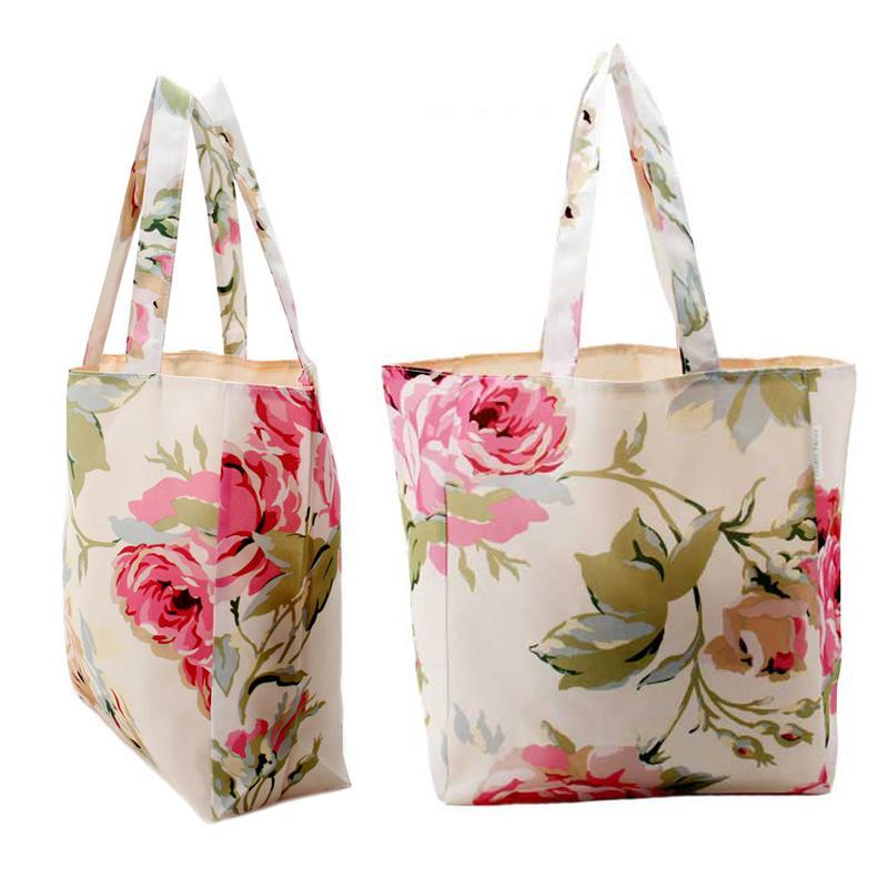 Wholesale Laura Ashley Elegant Romantic Retro Rose Flower Printed Tote Bags  Hand Lading Shoulder Bag Women S Shopping Bags Fashion Bags Hessian  Shopping ... 833cc655f7fe3