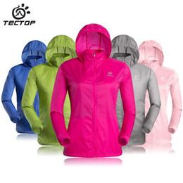 Wholesale Sportswear For Thin Women - Wholesale-New 2015 outdoor sportswear for women brand casual dress women's clothing sweatshirt waterproof ultra-thin breathable anti-uv