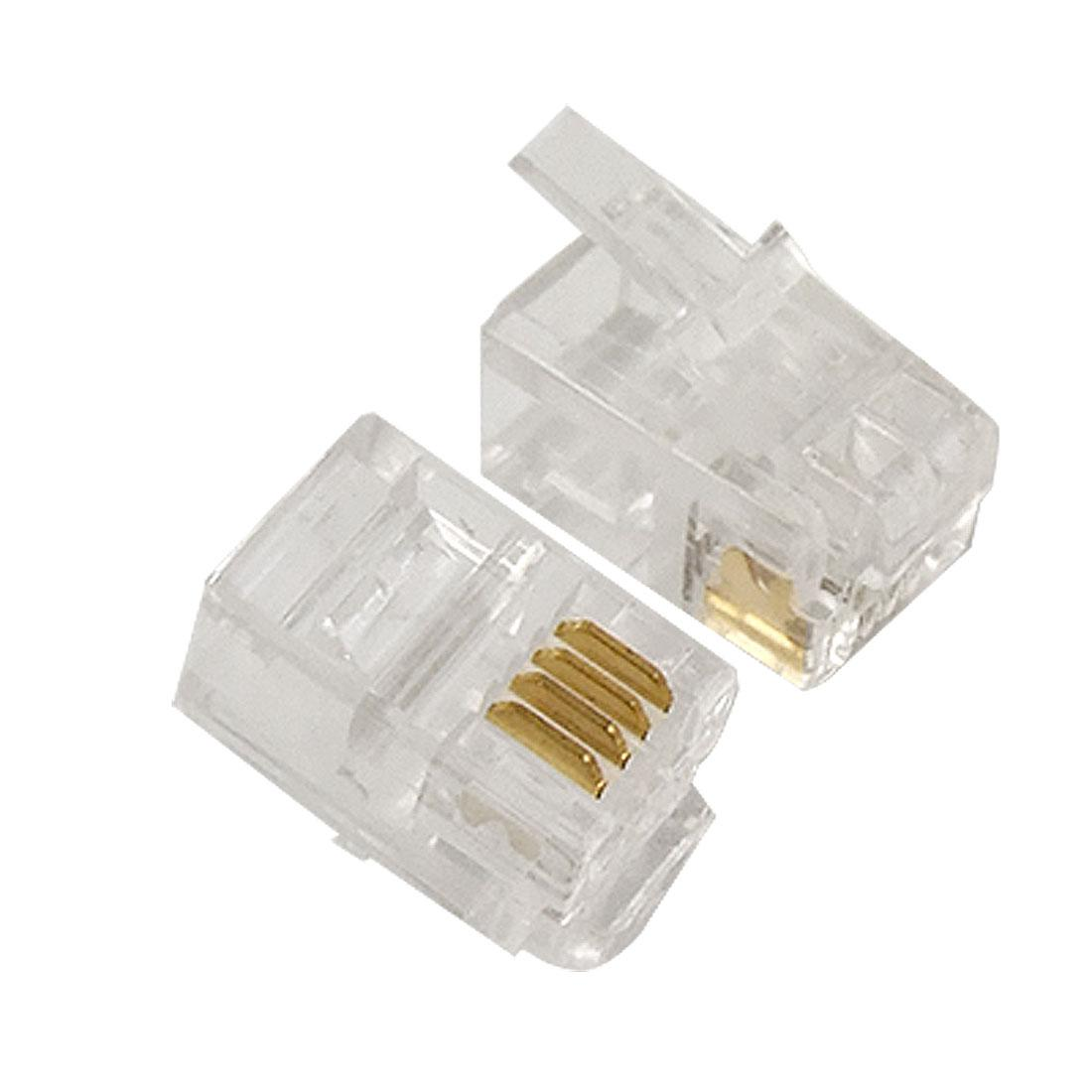 Rj10 Cable Wiring Diagram Library Cat 6 Shielded 4 Pin 4p4c Connector Plug For Handset Nvbcu Patch Cables Pc And Connectors